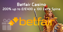 200% Match Bonus of up to £/€400 and 100 Extra Spins