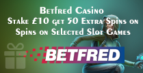 50 Free Spins for those who Stake £10
