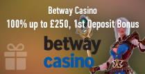 100% Bonus of up to £250 on the 1st Deposit