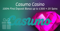 100% Welcome Bonus of up to £300 and 20 Spins