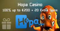 100% Deposit Match Bonus up to €200 and 20 Extra Spins