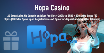 20 Extra Spins, 200% up to €500 and 100 Extra Spins