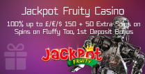 100% 1st Deposit Bonus up to £/€/$ 150 and 50 Extra Spins