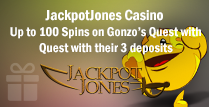 100 Spins on Gonzo's Quest in 3 deposits