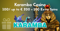 100% Welcome Bonus of up to € 200 Plus 100 Extra Spins