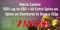 150% Deposit Match of up to £60 and 40 Extra Spins