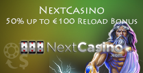 50% Reload Bonus For Players at NextCasino
