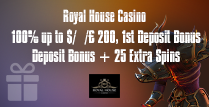100% 1st Deposit Bonus up to $/€/£ 200 and 25 Extra Spins