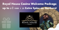 Up to £/€ 1000 Bonus and 25 Extra Spins on Starburst