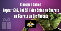 30 Extra Spins for Secrets on the Phoenix for Those Who Deposit £10