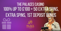 100% 1st Deposit Match Bonus up to £100
