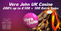 200% up to £100 Welcome Bonus and 100 Extra Spins
