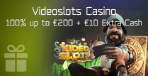 100% up to €200 Welcome Bonus and €10 Extra Cash