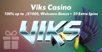 100% up to £1000 Welcome Bonus and 50 Extra Spins