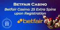 25 Extra Spins (No Deposit) at Betfair Casino