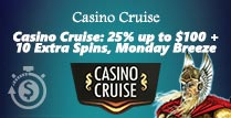 £100 Reload Bonus at Casino Cruise