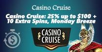 £100 Reload Bonus at Casino Cruise