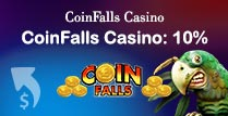 10% up to £100 Cashback on Coinfalls Casino