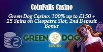 100% 2nd Deposit Bonus at GreenDog Casino