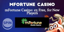 £5 No Deposit Bonus on mFortune Casino