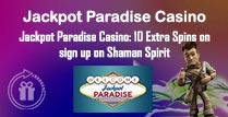 10 Extra Spins at Jackpot Paradise Casino