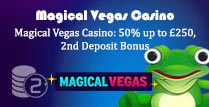 50% 2nd Deposit Bonus at Magical Vegas Casino
