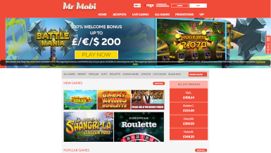 Screenshot 3 Mr Mobi Casino