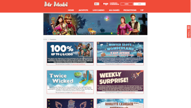 Screenshot 1 Mr Mobi Casino