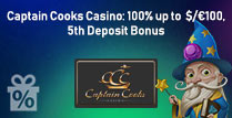 100% up to £100 5th Deposit Bonus
