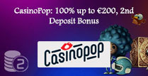 100% up to £200, 2nd Deposit Bonus