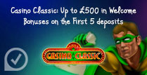 Up to £500 in Welcome Bonuses on the First 5 Deposits
