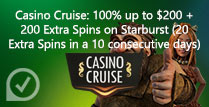 100% up to £200 + 200 Extra Spins on Starburst