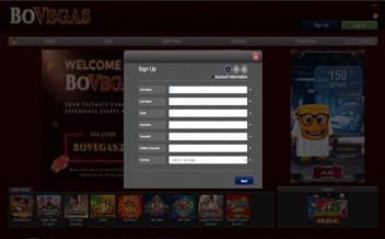 Screenshot 1 BoVegas Casino