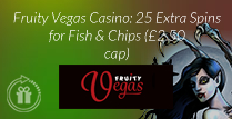 25 Extra Spins for Fruity Vegas casino