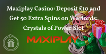 Deposit £10 and Get 50 Extra Spins on Warlords