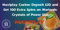 Deposit £20 and Get 100 Extra Spins on Warlords