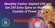 Deposit £50 and Get 250 Extra Spins on Warlords