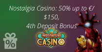 50% up to £150, 4th Deposit Bonus