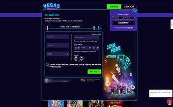 Screenshot 1 Vegas Spins Casino