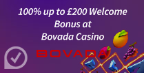 100% up to $200 Welcome Bonus at Bovada casino