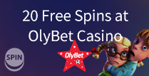 20 Free Spins at OlyBet Casino