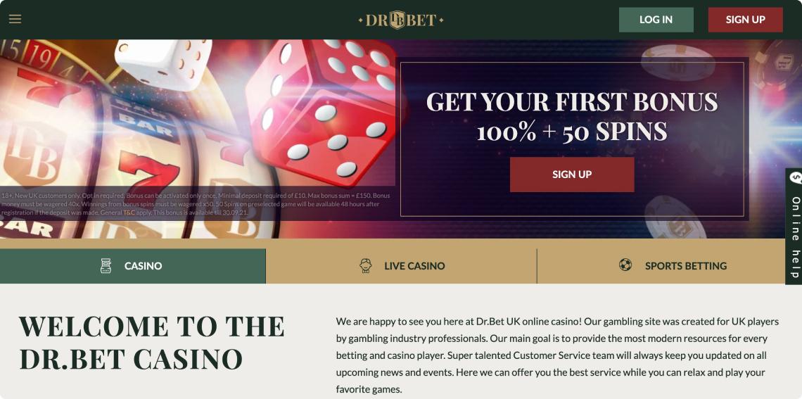 Screenshot 1 DrBet Casino