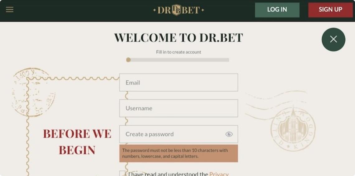 Screenshot 2 DrBet Casino